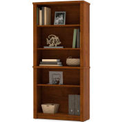 "Bestar® Bookcase, 5 Shelves - 66-3/4""H - Tuscany Brown - Embassy Series"