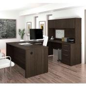 "Bestar® U-Shaped Desk - 66"" - Dark Chocolate - Embassy Series"