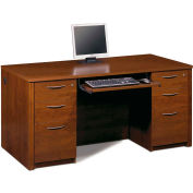 Embassy Executive Desk Kit w/ Fully Assembled Pedestals in Tuscany Brown