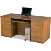 Embassy Executive Desk Kit w/ Fully Assembled Pedestals in Cappuccino Cherry