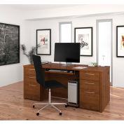 "Bestar® Executive Desk Kit - 71"" - Tuscany Brown - Embassy Series"