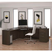 Bestar® Corner Desk - Dark Chocolate - Embassy Series