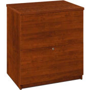 Bestar® Two Drawer Lateral File in Tuscany Brown