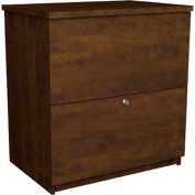 Two Drawer Lateral File in Chocolate