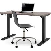 "Bestar® Electric Height Adjustable Table - 48""L x 24""W - Bark Gray"