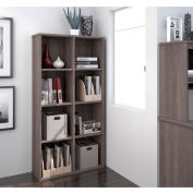 "Bestar® Cubby Bookcase 4 Shelf 32-3/16""W x 11-5/8""D x 62-13/16""H Bark Gray"