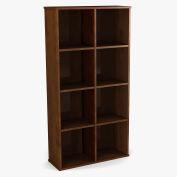"Bestar® Cubby Bookcase 4 Shelf 32-3/16""W x 11-5/8""D x 62-13/16""H Chocolate"