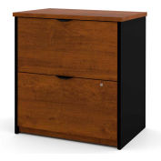 Bestar® Lateral File Cabinet - Tuscany Brown & Black - Innova Series