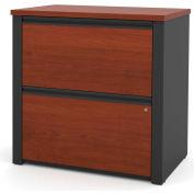 "Bestar® Lateral File Cabinet - 30"" - Bordeaux & Graphite - Prestige+"