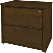 "Prestige + 36"" Assembled Lateral File in Chocolate"