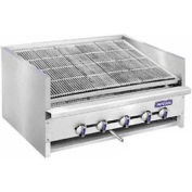"Steakhouse Broiler, Countertop, Nat Gas, 30"" Wide, Char-Rock, 135,000 BTU W/ 3 Cast-Iron ""H"" Burners"