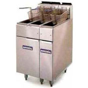 Fryer, Dual Deep Fat, Lp Gas, 25-Lb. Cap Each, 140,000 BTU With Stainless Steel Frypot