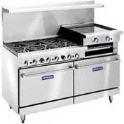 "Restaurant Series Range, 60"", Lp Gas, 340,000 BTU With Cabinet Base"