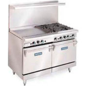 """Restaurant Series Range, 48"""", Lp Gas, 278,000 BTU with (8) 28,000 BTU Open Burners"""