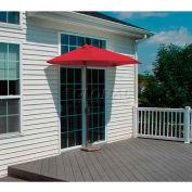 OFF-THE-WALL BRELLA® 7.5 Ft. Outdoor Half Umbrella - Red - Sunbrella