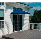 OFF-THE-WALL BRELLA® 9 Ft. Outdoor Half Umbrella - Blue - Sunbrella