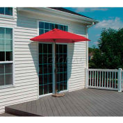 OFF-THE-WALL BRELLA® 9 Ft. Outdoor Half Umbrella - Red - Sunbrella