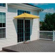OFF-THE-WALL BRELLA® 9 Ft. Outdoor Half Umbrella - Yellow - Sunbrella