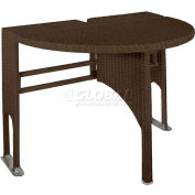 TERRACE MATES® GENEVIEVE - Java - Half-Oval Outdoor Table