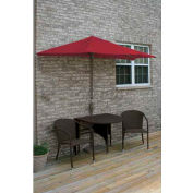 TERRACE MATES® GENEVIEVE All-Weather Wicker in Java  7.5 Ft. Red Olefin 5 Pc. Set