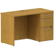 "Bush® 300 Series Single Pedestal Credenza Kit, 300SCSP48MCK, 48""W x 22""D, Cherry"