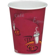 SOLO® Bistro Design Hot Drink Cups, 12 Oz., Maroon, 1,000/Carton