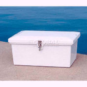 "Better Way Partners 211H-GRAY XSmall Outdoor Dock Storage Box, 25""L x 16-1/2""W x 10-1/2""H, Gray"