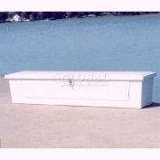 """Better Way Partners 718SMG-GRAY Low Profile Outdoor Dock Box - 7' Deck, 85""""L x 20""""W x 18""""H, Gray"""