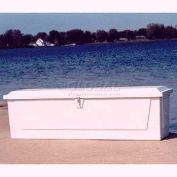 "Better Way Partners 725 Standard Outdoor Dock Box - 2XLarge, 85""L x 22""W x 24-1/2""H, White"