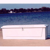 "Better Way Partners 725SMG-GRAY Standard Outdoor Dock Box - 2XLarge, 85""L x 22""W x 24-1/2""H, Gray"