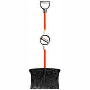 Bosse BT-400 Professional-Grade, Ergonomic Snow Shovel w/Wear Strip and Adjustable Center Handle