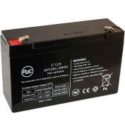 AJC® Lightalarms PGPA 6V 12Ah Emergency Light Battery