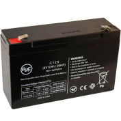 AJC® Technacell EP695 Leads & Fuse 6V 12Ah Alarm Battery