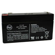 AJC®  Panasonic 6V 1.3Ah 6V 1.3Ah Sealed Lead Acid Battery