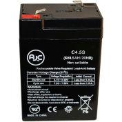 AJC®  Leoch DJW6-4.5WL 6V 4.5Ah Sealed Lead Acid Battery