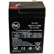 AJC® Lithonia Lighting ELB06042 6V 4.5Ah Sealed Lead Acid Battery