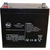 AJC® Fire Lite PS12550 12V 55Ah Emergency Light Battery