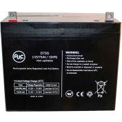 AJC® Teledyne ta Trac Wheelchair Batteries 12V 75Ah Emergency Light Battery