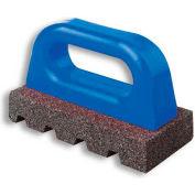 """Fluted Rub Bricks, 6""""L X 3""""W X 1""""H, 60 Grit, Plastic Handle"""