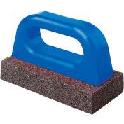 """Fluted Rub Bricks, 8""""L X 3 1/2""""W X 1 1/2""""H, 20 Grit, Plastic Handle"""
