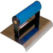 "Stainless Steel Sidewalk Edger, Comfort Grip Handle, 6""L X 4""W, 1/2"" Radius, 5/8"" Lip"