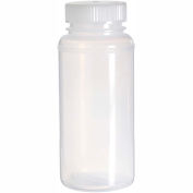 Bel-Art Precisionware® Bottles 106260007, LDPE, 500ml, Clear, Wide Mouth, 12/PK