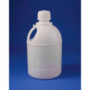 Bel-Art Carboy with Handle and Screw Cap 10795-0000, HDPE, 20 Liters, 83mm Closure, 1/PK