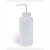 Bel-Art LDPE Wash Bottles 116201000, 1000ml, Natural Cap, Wide Mouth, 3/PK