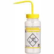 Bel-Art LDPE Wash Bottles 116420624, 500ml, Isopropanol Label, Yellow Cap, Wide Mouth, 3/PK