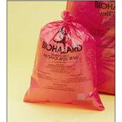 "Bel-Art Red Biohazard Disposal Autoclavable Bags, 13-20 Gallon, 2.0 mil Thick, 25""W x 35""H, 200/PK"