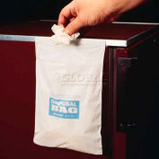 "Bel-Art Cleanware™ White Self Adhesive Waste Bags, Holds 3 lb., 1 mil Thick, 8""W x 10""H, 50/PK"