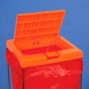 Bel-Art Clavies® Biohazard Bag Holder Cover 131920102, Polypropylene, Orange, 1/PK