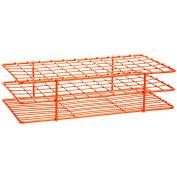 Bel-Art Poxygrid® Steel Test Tube Rack 187570003, For 13-16mm Tubes, 72 Places, Orange, 1/PK - Pkg Qty 24