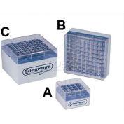 Bel-Art Cryo-Safe Vial Storage Boxes 188490000, Polycarbonate, For 1.2-2.0ml Vials, 25 Places, 8/PK - Pkg Qty 6